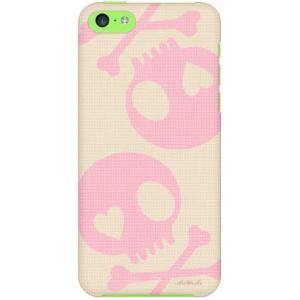 iPhone 5c ケース iPhone5c カバー アイフォン5c スカル ベージュ ピンク