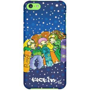 iPhone 5c ケース iPhone5c カバー アイフォン5c 可愛いスノーボーダー
