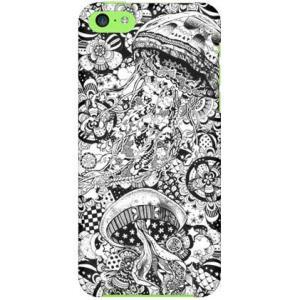 iPhone 5c ケース カバー Jellyfish