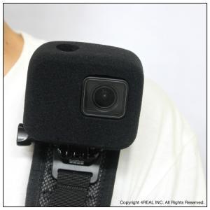 GoPro HERO 7 6 5 対応 防風 gopro 防風ケース 風防 マイク 風きり音防止 防風カバー 騒音防止 録音ノイズ対策 isense 07