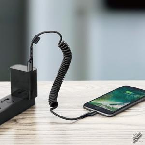 iPhone 充電 ケーブル 伸縮 Baseus 車載 断線防止 iPhone X XS Max 8 7 Plus|isense|02