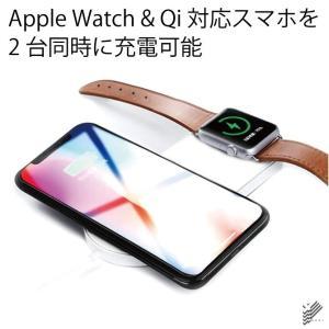 Qi 同時充電 急速充電 ミニ エアパワー ワイヤレス チャージャー Apple Watch|isense|02
