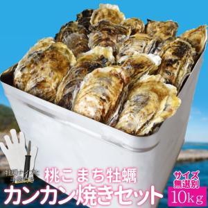 牡蠣カンカン焼きセット 桃こまちサイズ無選別9kg(100個...