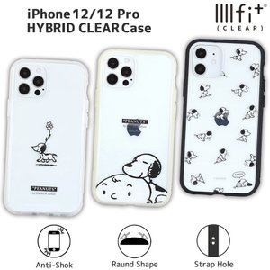 ピーナッツ IIIIfit Clear iPhone 12/12 Pro対応ケース スヌーピー すやすや 総柄 クリア  SNOOPY かわいい 人気 キャラクター クラシック 12 プロ モノクローム isfactory