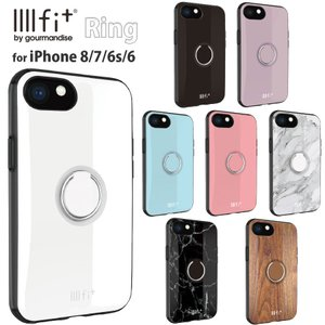 IIIIfit ring iPhone 8/7/6s/6/SE(第2世代)対応ケース シンプル リング 木目 大理石  かわいい かっこいい リング付き iPhoneSE iPhone SE 第2世代 送料無料 |isfactory