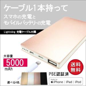 モバイルバッテリー Lightning in スタンダード 5000mAh|isfactory