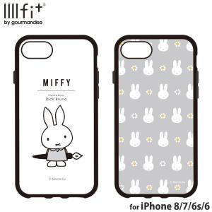 ミッフィー IIIIfit iPhone 8/7/6s/6/SE(第2世代) 対応ケース  ペン グレー Miffy かわいい キャラクター 耐衝撃 ハイブリッドケース モノクロ|isfactory