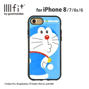 ドラえもん iPhone8/7/6s/6 耐衝撃ケース IIIIfi+ ストラップホール付 持ちやすい ラウンド形状 かわいい キャラクター|isfactory