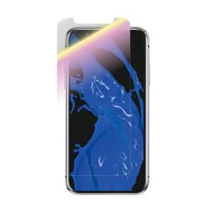 iPhoneXR ガラスフィルム 「GLASS PREMIUM FILM」 スタンダードサイズ 高光沢/ブルーライトカット/0.33mm|isfactory
