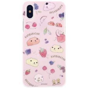 カピバラさん iPhoneX対応ハードケース ピンク isfactory