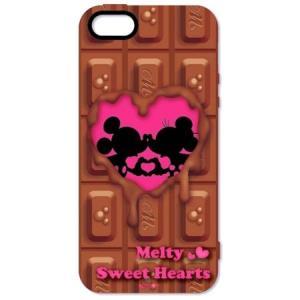 ミッキーミニーシルエット iPhone5専用シェルジャケット(チョコレート) DN-89A|isfactory