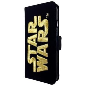 STAR WARS スターウォーズ iPhone6対応 3D刺繍フリップケース ゴールド STW-47A isfactory