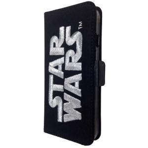 STAR WARS スターウォーズ iPhone6/6s対応 3D刺繍フリップケース シルバー isfactory
