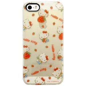 サンリオ iPhoneSE/5s/5対応 ソフトジャケット ハローキティ イチゴ SAN-596B|isfactory