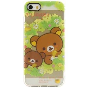 リラックマ iPhoneSE/5s/5対応 ソフトジャケット もり柄 isfactory