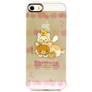リラックマ iPhoneSE/5s/5対応 シェルジャケット ねこ isfactory