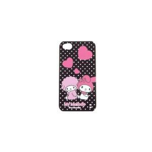 iPhone4S/4バックカバーマイメロブラックハート|isfactory