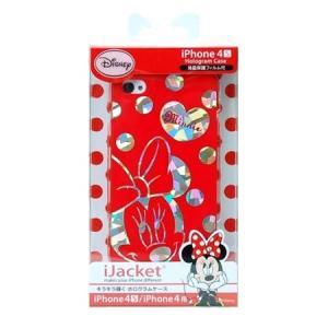 ディズニー iPhone4S/4用 ホログラムハードケース ミニーマウス PG-IJK606MNE|isfactory