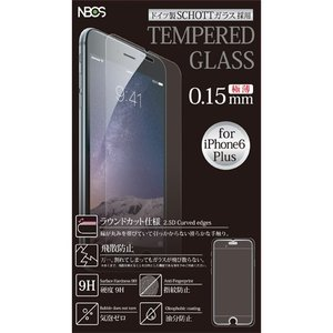 TEMPERED GLASS ガラスフィルム iPhone8/7/6s/6 Plus用 0.15mm クリア|isfactory