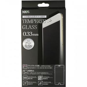 2.5Dラウンドカット ガラスフィルム iPhone8/7/6s/6用 0.33mm クリア|isfactory
