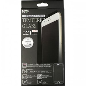 TEMPERED GLASS ガラスフィルム iPhone8/7/6s/6用 0.21mm クリア|isfactory
