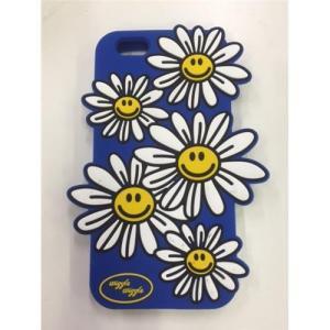 アウトレット iPhone6/6s用携帯ケース フラワーBLUE MK-006-BU|isfactory
