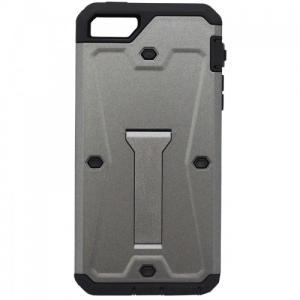 アウトレット iPhone  5/5s/SE対応 スタンド付き防塵防滴ケース グレイ|isfactory
