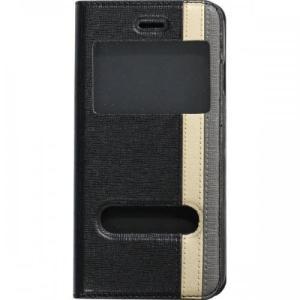 iPhone6/6s対応 窓付手帳型ケース ブラック|isfactory