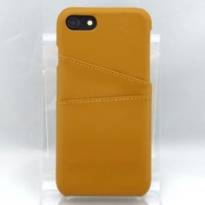 iPhone8/7対応 対応 ステッチ加工 レザー背面ケース ライトブラウン|isfactory