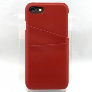 iPhone8/7対応 ステッチ加工 レザー背面ケース レッド|isfactory