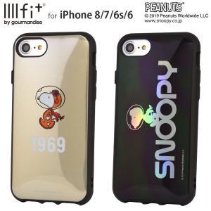スヌーピーアストロノーツデザイン IIIIfit iPhone8/7/6s/6対応ケース スヌーピー 耐衝撃 ストラップホール付 持ちやすい ラウンド形状 かわいい キャラクター|isfactory