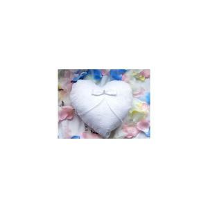 リングピロー ホワイト完成品ハート型 結婚祝い 結婚式 ウェデイング 送料無料|ishi0424