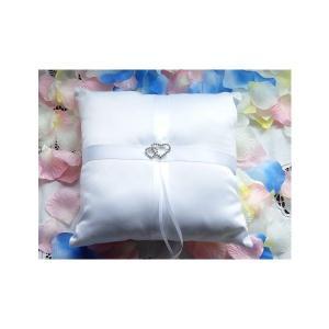 リングピロー ホワイト完成品スクエア型 結婚祝い 結婚式 ウェデイング 送料無料|ishi0424