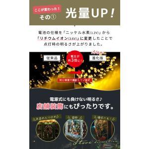 LEDソーラーイルミネーション 100球 点灯8パターン イルミネーションソーラー 屋外 ソーラー クリスマス 飾り 電飾 防犯 送料無料|ishi0424|03