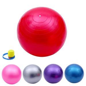バランスボール 45cm 55cm 65cm 75cm 送料無料  フットポンプ付 ヨガボール ダイエット器具|ishi0424|02