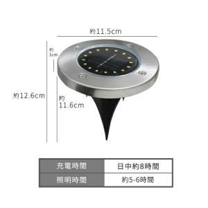 埋め込み式 ソーラーガーデンライト LEDソーラーライト 4個セット 12LED 16LED 防水 玄関 屋外 送料無料|ishi0424|04