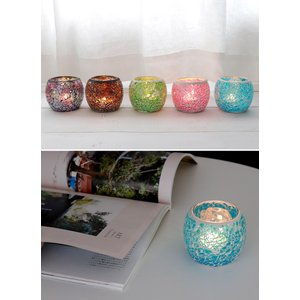 キャンドルホルダー ガラスホルダー キャンドルスタンド 北欧 トルコ 雑貨 癒し 硝子 モザイクガラス 6種類 ガラス容器|ishi0424|06