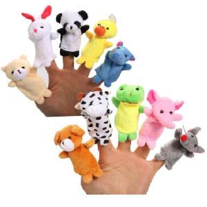 指人形 10個セット 動物 アニマル 絵本 読み聞かせ 人形 プレゼント 出産祝い ギフト 送料無料|ishi0424