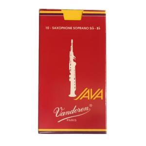 Vandoren バンドレン / JAVA RED ソプラノサックス用リード (#3 1/2)(10枚入)(ウインドパル)(SALE2019)|ishibashi-shops
