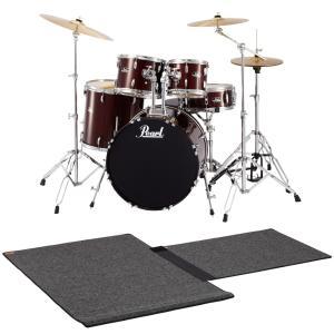 Pearl / ドラムセット RS525SCW/C 91-レッドワイン 特製ドラムマット付き限定セット(SHIBUYA_WEST)|ishibashi-shops