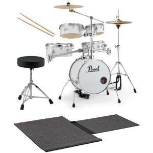 Pearl / 小型 ドラムセット RT-645N/C 33-ピュアホワイト リズムトラベラー Ver3S ドラムイスとスティックと特製マット付き(SHIBUYA_WEST)|ishibashi-shops