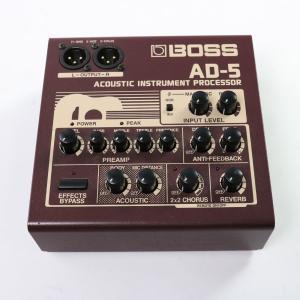 ボスのアコースティックプロセッサー、AD-5が入荷! プレゼンスを含む4バンドEQを装備したプリアン...