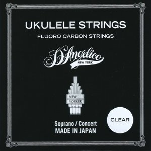 D'Angelico / Ukulele Strings Fluoro Carbon Series ASU-MED-CL Medium Clear 49-76 【WEBSHOP】|ishibashi-shops