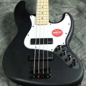 Squier by Fender / Contemporary Active Jazz Bass HH Flat Black 【傷ありアウトレット特価】【S/N ICS19157306】