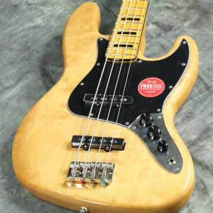 Squier / Classic Vibe 70s Jazz Bass Maple Fingerboard Natural 《純正バレットチューナープレゼント!/+621153790》【S/N ICS20009024】