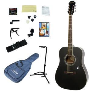 Epiphone / DR-100 EB(Ebony) 【アコースティックギター入門14点セット】 エピフォン アコギ フォークギター 初心者 DR100
