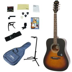 Epiphone / DR-100 VS(Vintage Sunburst) 【アコースティックギター入門14点セット】 エピフォン アコギ フォークギター 初心者 DR100