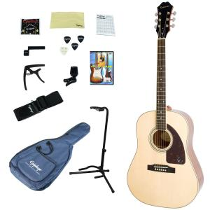 Epiphone / AJ-220S NA(Natural) 【アコースティックギター入門14点セット】【単板Top】 エピフォン アコギ フォークギター 初心者 AJ220S