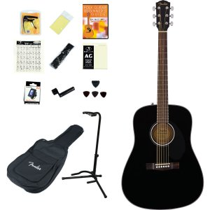 Fender Acoustic / CD-60S Dreadnought Black WN (アコースティックギター14点入門セット) フェンダー フォークギター CD60S(YRK)|ishibashi