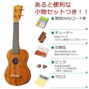 FAMOUS フェイマス / FS-5G (あると便利な小物セットつき ) ソプラノ ウクレレ 初心者 入門 FS5G(お取り寄せ商品)|ishibashi